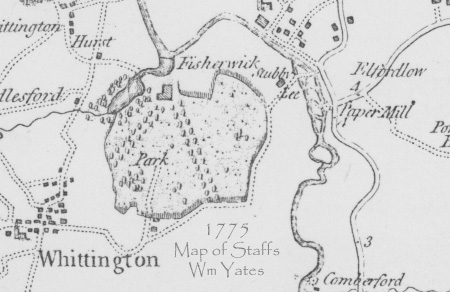 Map of the 400 acre estate with tree-lined avenues dating to 1775